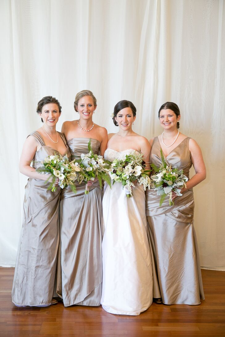 Floor Length Neutral Bridesmaid Dresses