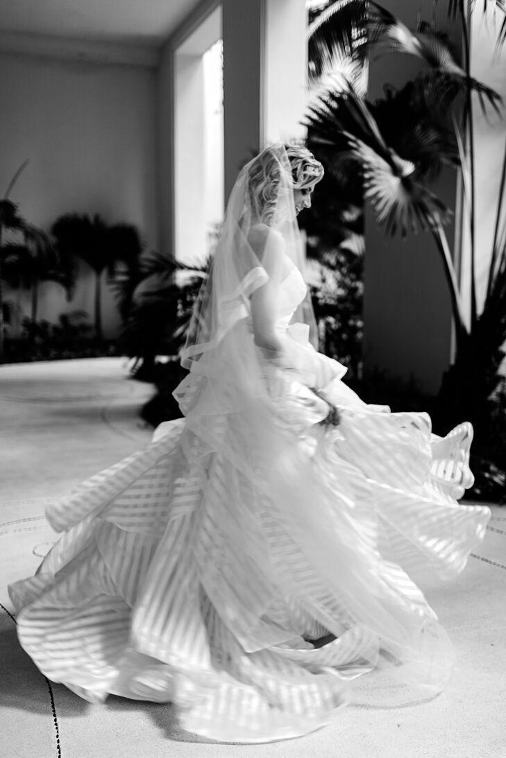 Hayley Paige Guindon Striped Organza Wedding Dress
