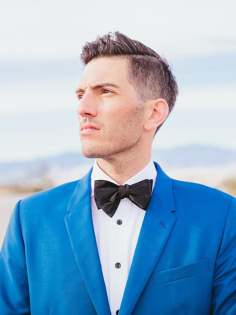 Wedding hairstyle ideas for men's short hair