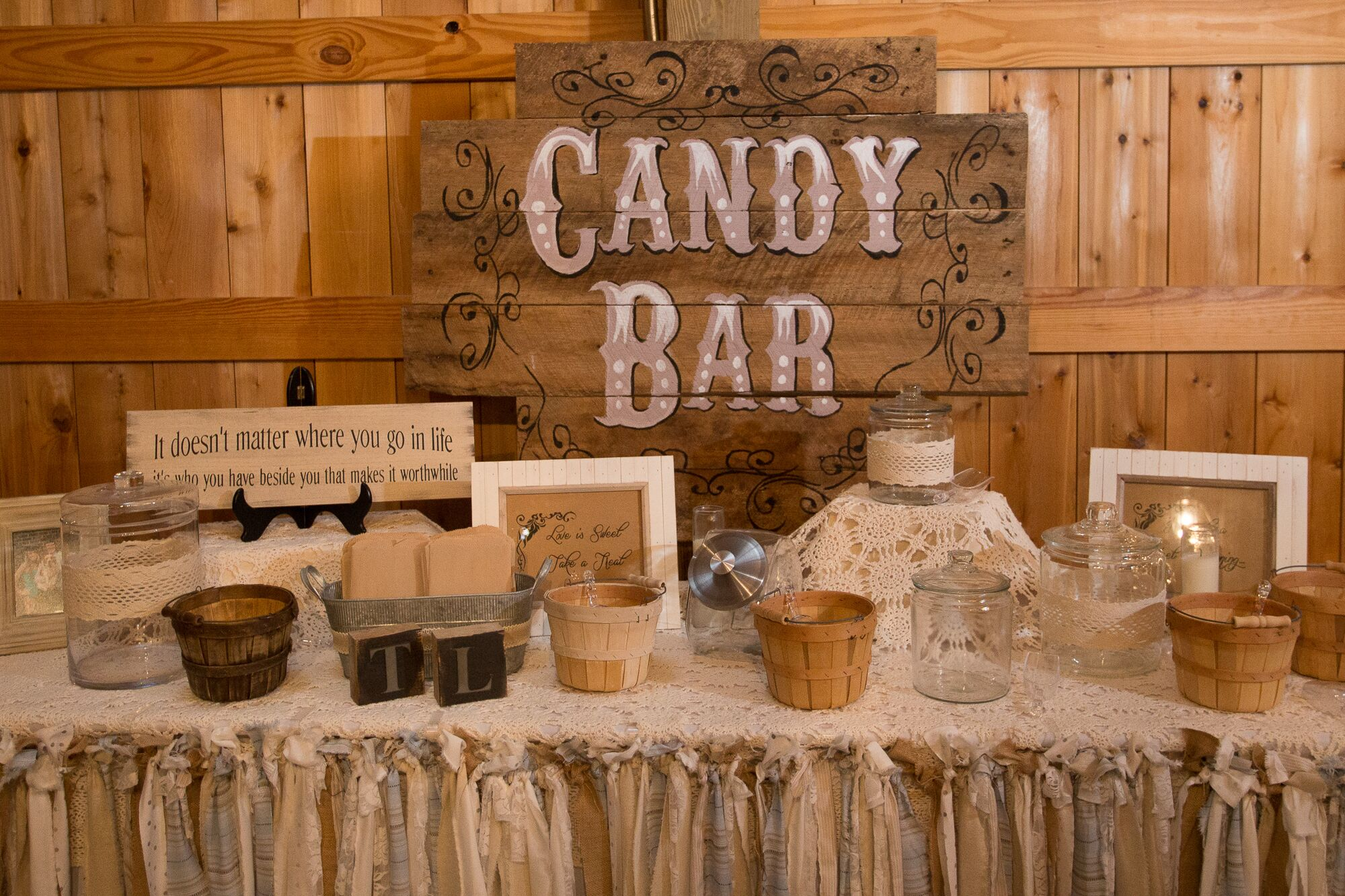 Vintage Inspired Rustic Candy Bar