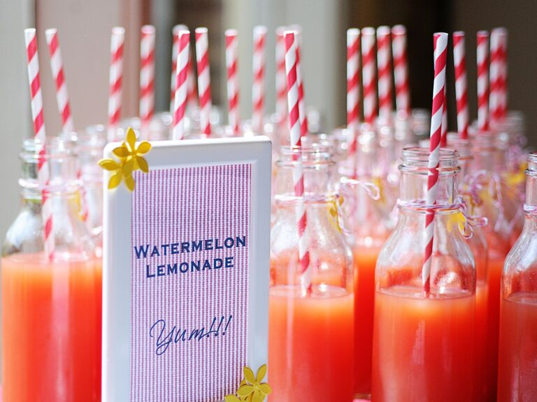 Orange watermelon lemonade drink