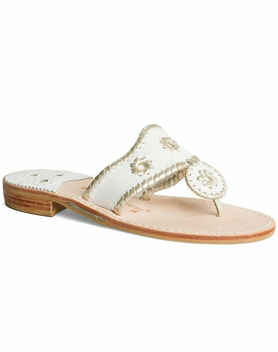 Jack Rogers Hamptons Sandal-white-metallic Wedding Shoes photo