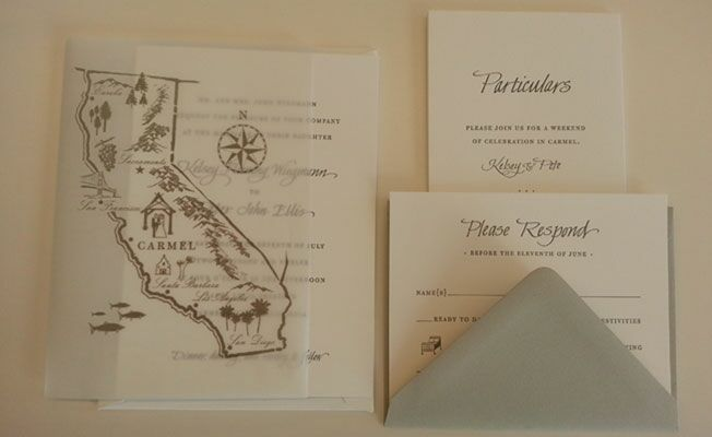 chic wedding stationery