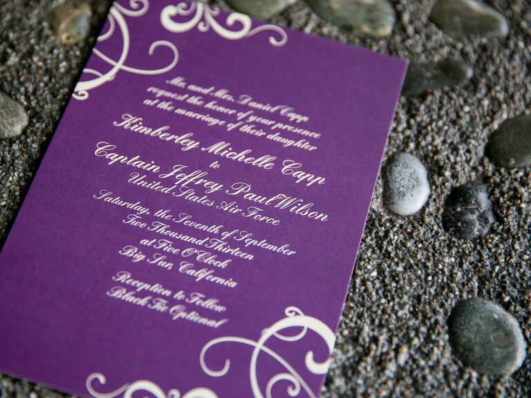 Military Weddings Invitation Wording