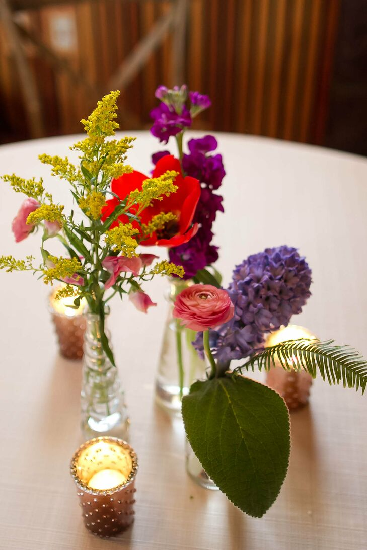 Variety of Colorful Flower Centerpieces