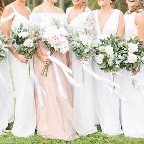 Wedding pictures wedding photos playful white bridesmaid dresses junglespirit Choice Image
