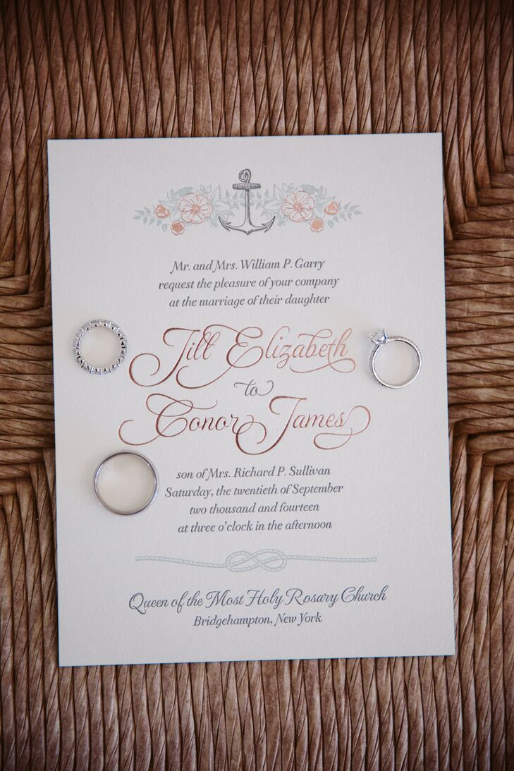 Whimsical Floral and Nautical Invitations