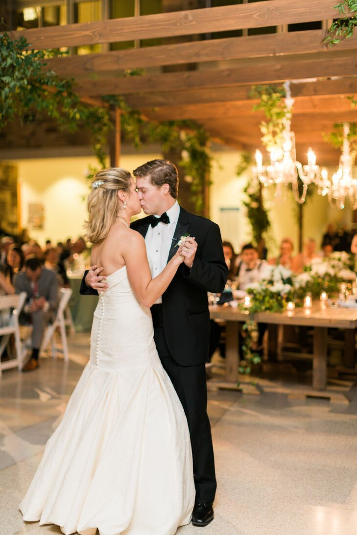 "Margaret and Todd's first dance as a married couple was to John Legend's hit ""All of Me,"" performed as an instrumental version by one of Todd's groomsmen, professional musician Nick Kaleikini, who played it on his saxophone."
