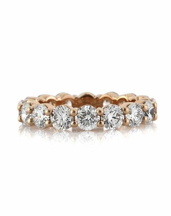 Mark Broumand 3.90ct Round Brilliant Cut Diamond Eternity Band in 18k Rose Gold Wedding Ring photo