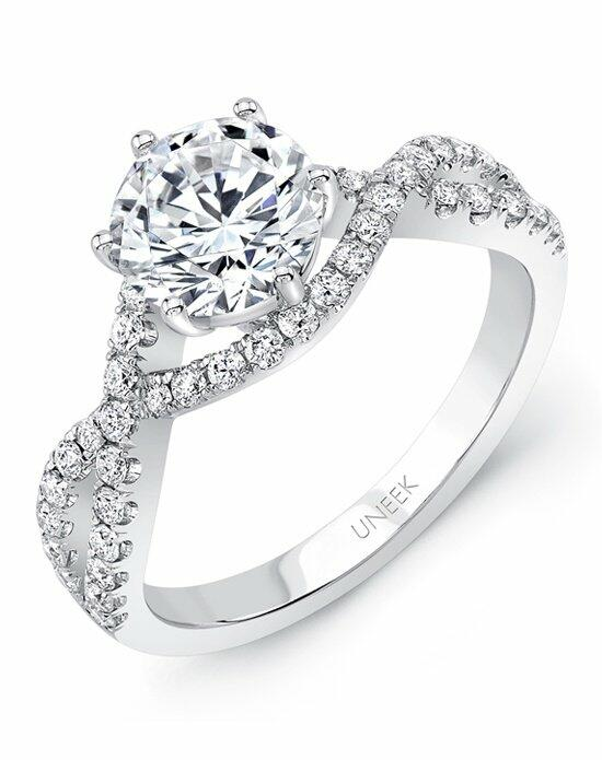 Uneek Fine Jewelry SWS174 Engagement Ring photo