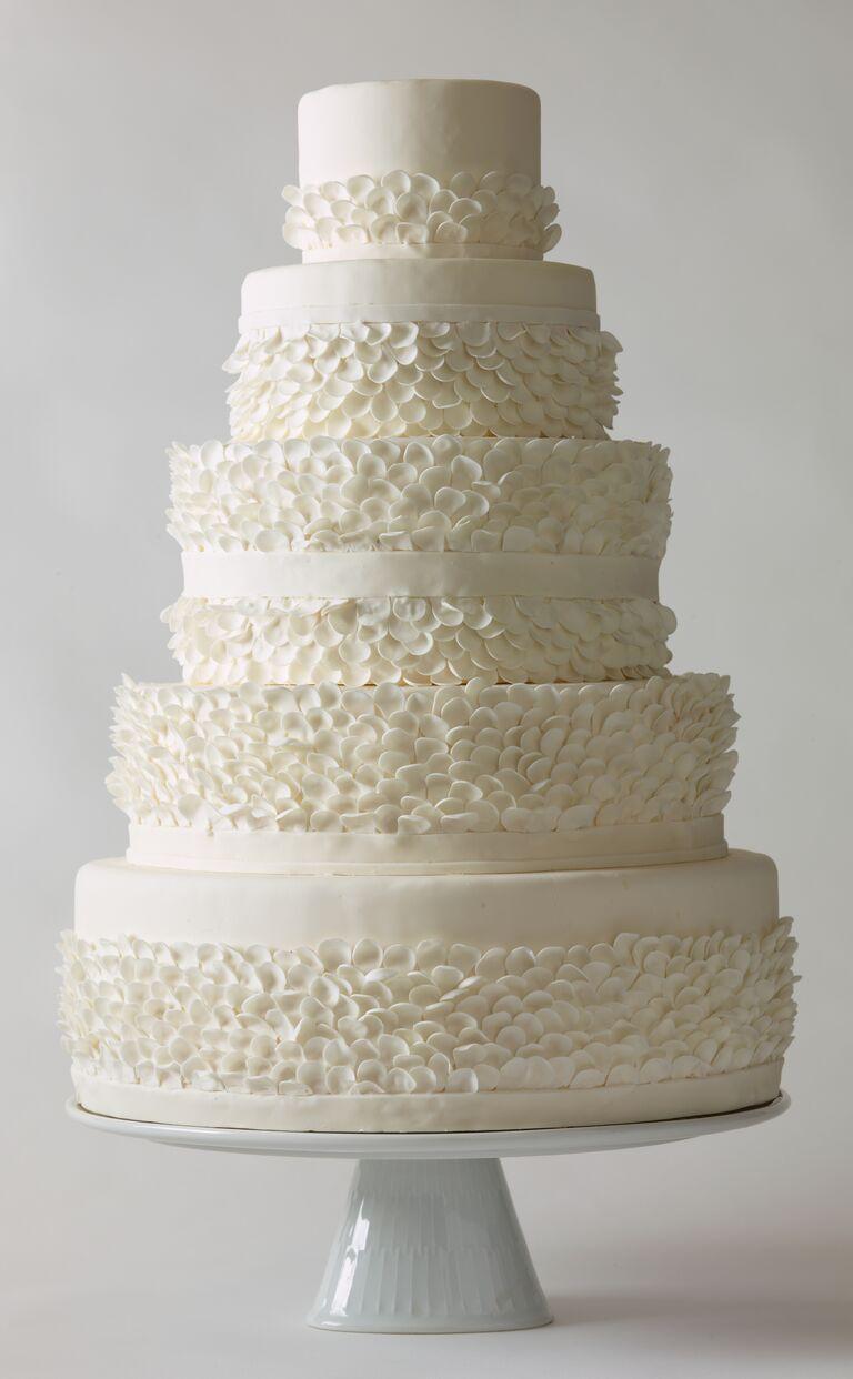 Nine Cakes White Frills Wedding Cake