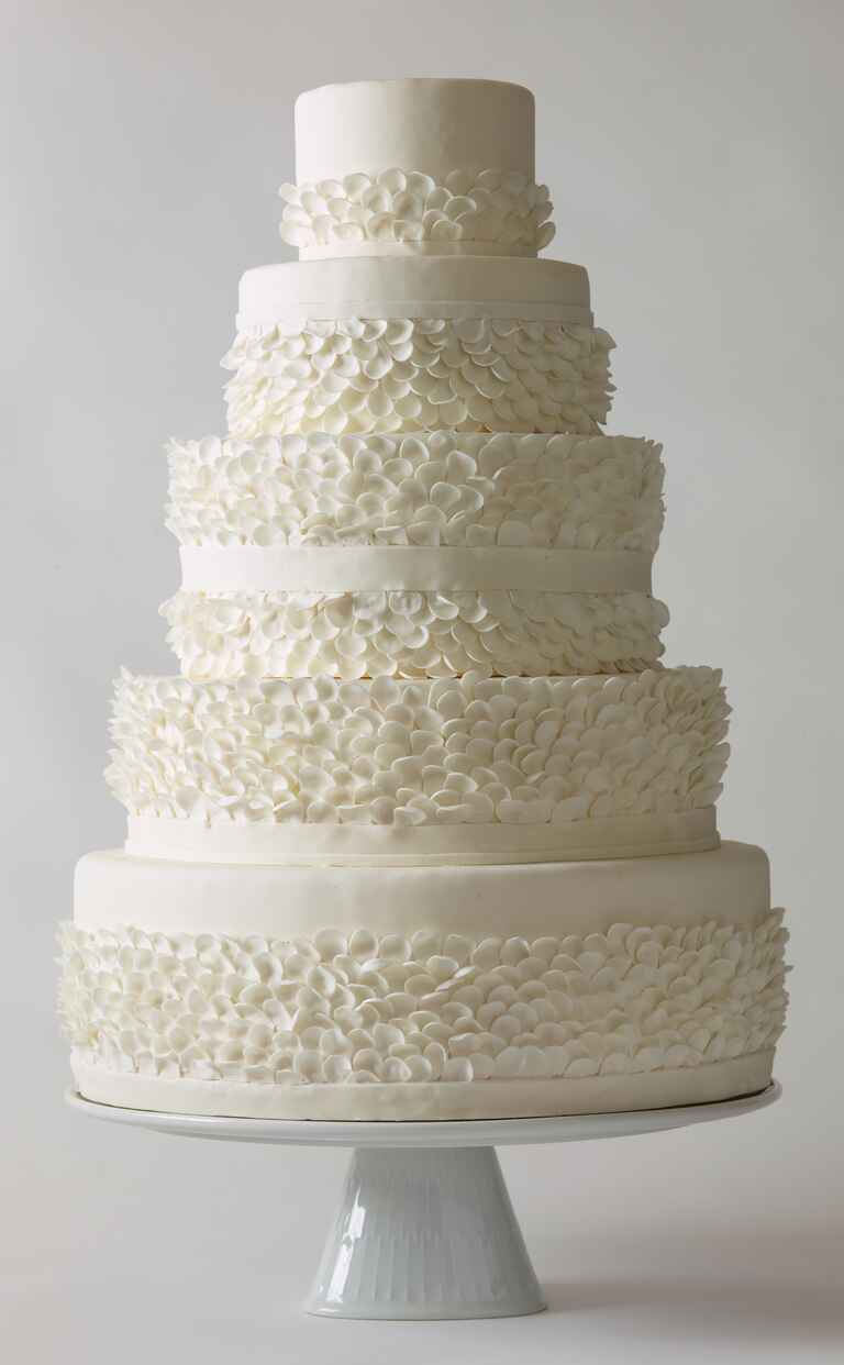 Nine Cakes white frills wedding cake