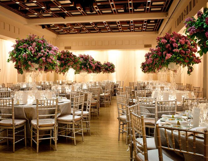 Wedding Reception With Tall Fl Centerpieces