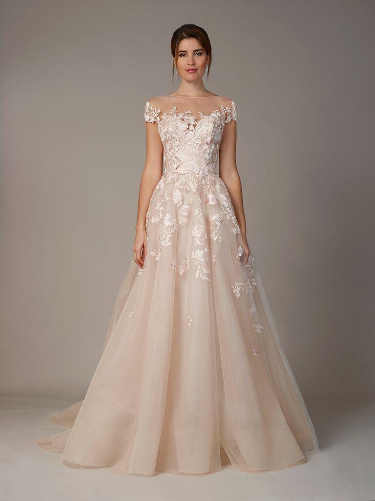 Colorful wedding dresses from bridal fashion week blush wedding dress junglespirit Images