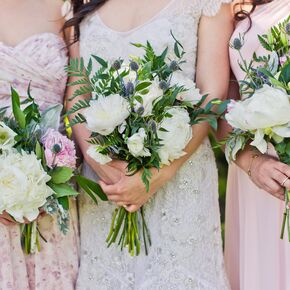 Diy Peony Bouquet With Ferns