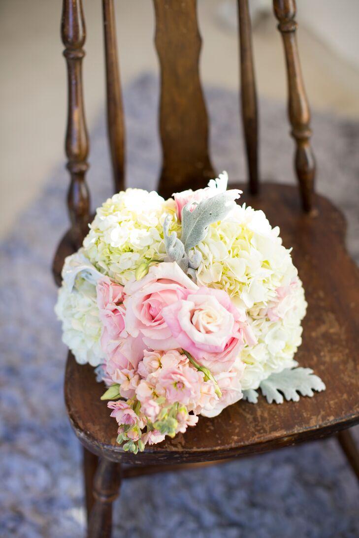 DIY Rose, Hydrangea, Sweet Pea Bouquet