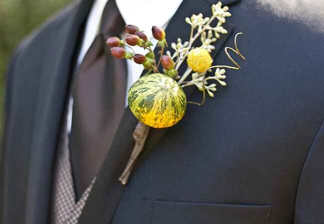 gourd boutonniere |<img class=
