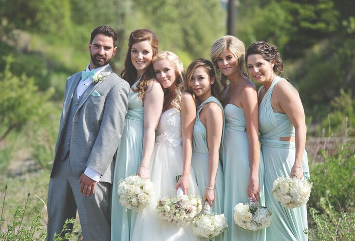 Bridesmaids and the man of honor junglespirit Images