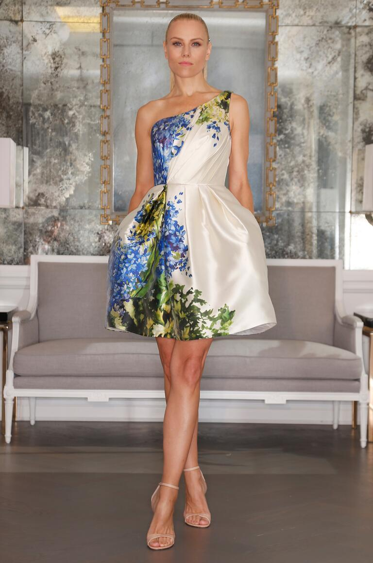 short floral wedding dress - wedding dresses