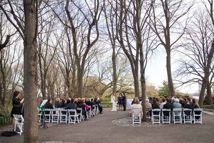 """I wanted a location that was not a typical New York City hotel or ballroom, and that offered an outdoor area for our ceremony with beautiful river views,"" Lisa says. ""Everything came together perfectly. The sun was shining, the flowers were blooming, and the park setting was stunning."""