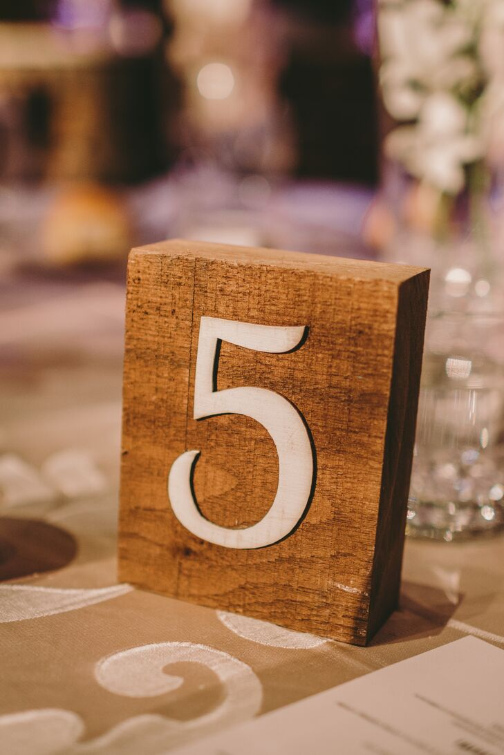 Rustic Wood Table Numbers