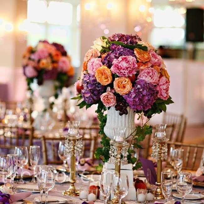 Floral Urns For Weddings: Floral Urn Centerpieces