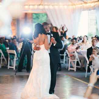 Couple having their first dance