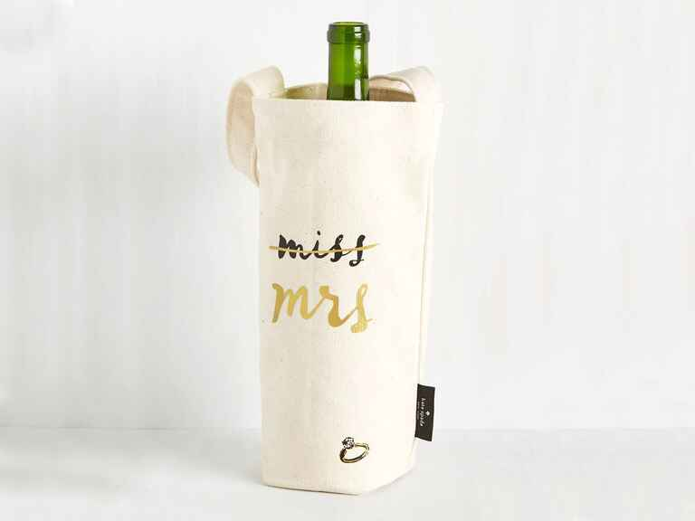 Kate Spade Miss to Mrs wine tote wedding gifts for bride