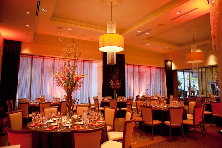 The Gershon Fox Ballroom Fall Wedding Reception Lighting
