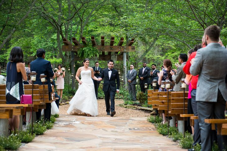 Wedding recessional at neverland farms junglespirit