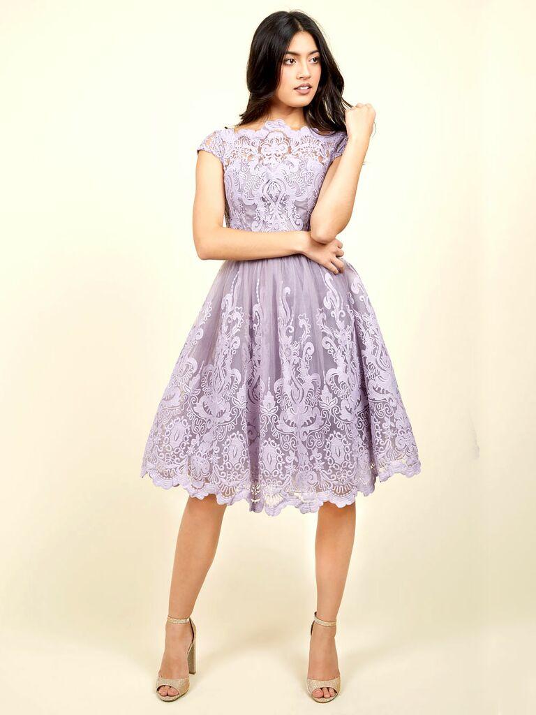 Dress code elegantly casual - Modcloth Exquisite Elegance Lavendar Lace Dress