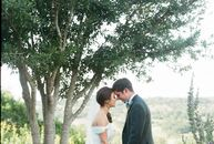 Erin and Andrew let the absence of a theme be the theme of their wedding. Instead, they concentrated on highlighting the beauty of their ranch venue w