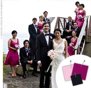 Wedding Color Combo: Light Pink + Bergundy + Black
