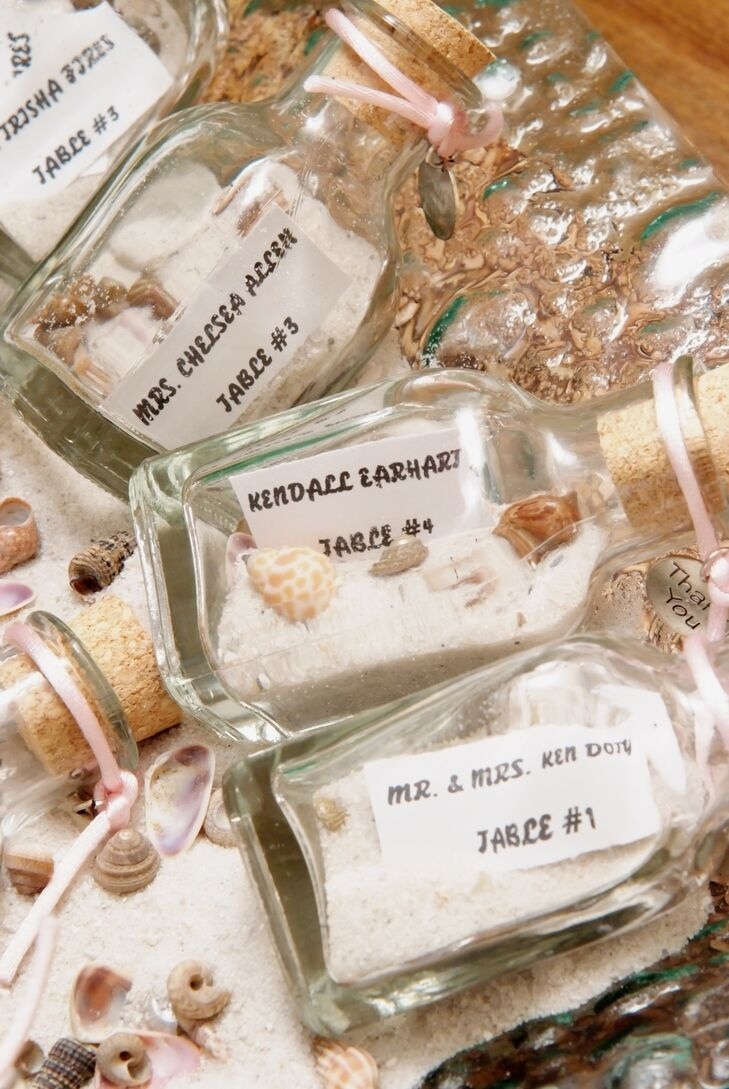 Fun Message-in-a-Bottle Escort Cards