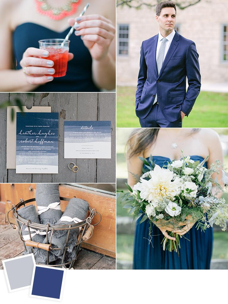 Gray and navy fall wedding ideas
