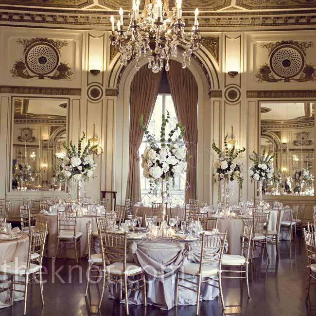 Gold Wedding Reception: Gold Reception Decor