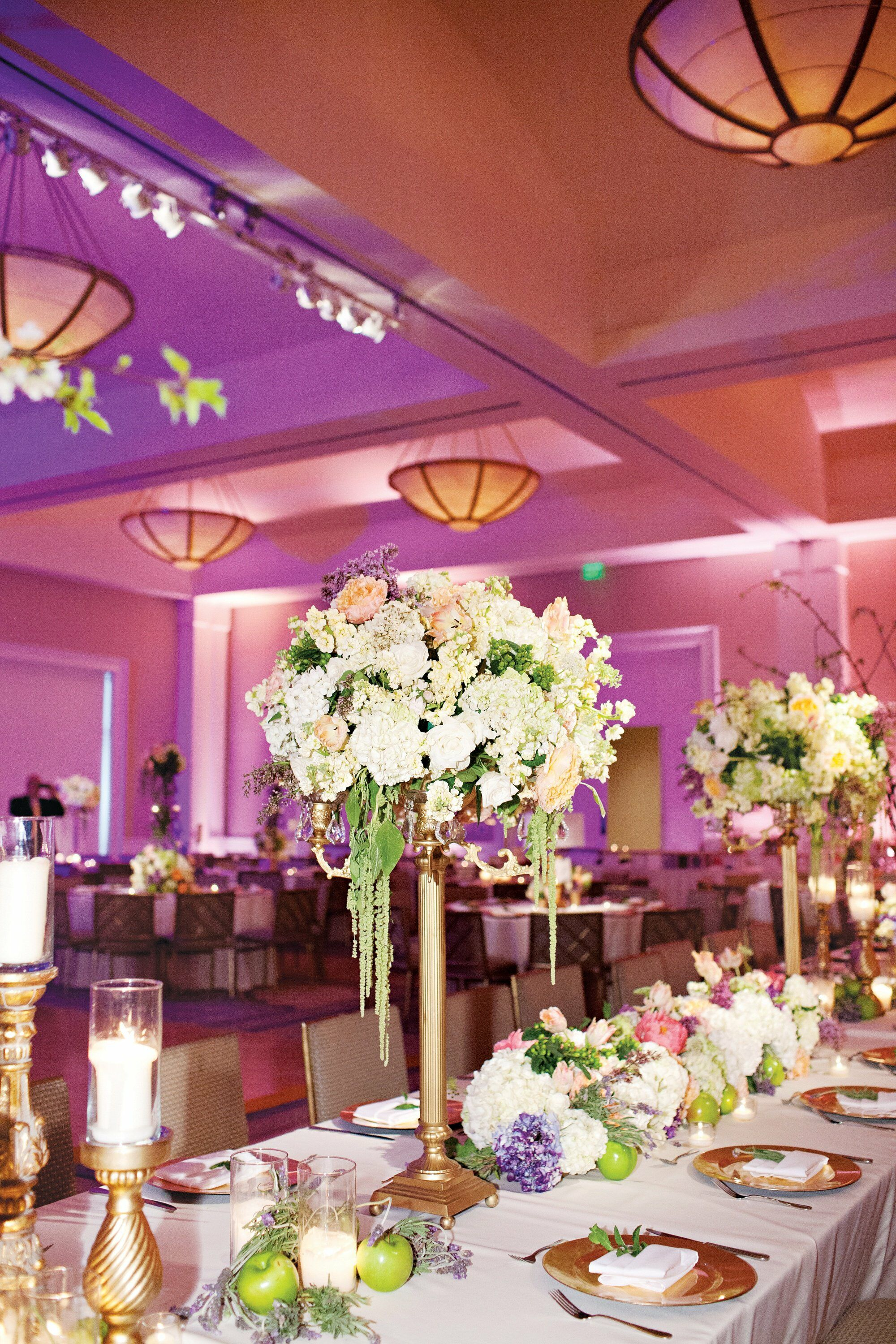 Gold Cream Amp Lavender Reception Decor