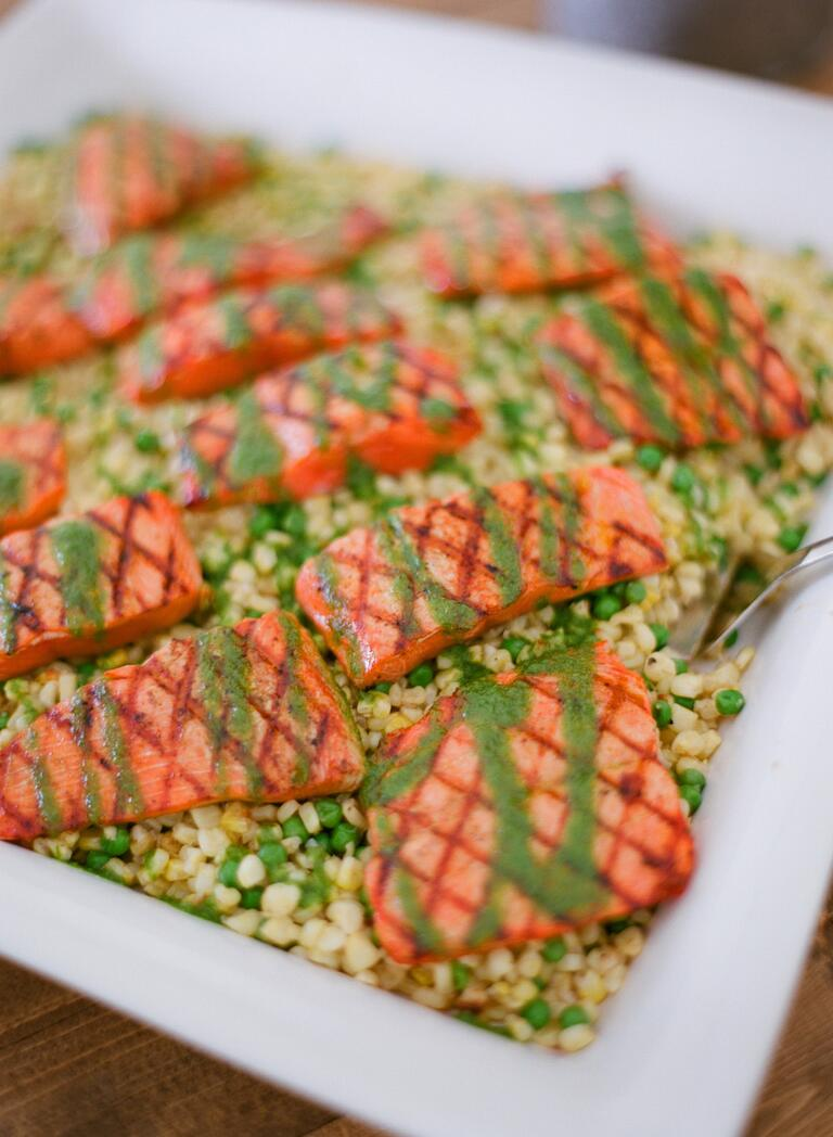 Salmon wedding catering ideas