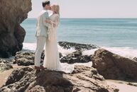 "DIY details and natural wood accents lent Lindsay Rahn and Sam Kattenhorn's bohemian beach wedding a hint of rustic flair. ""Growing up, we lived in Ve"