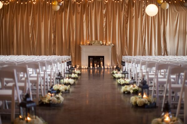Elegant Gold Ceremony at 28 Event Space