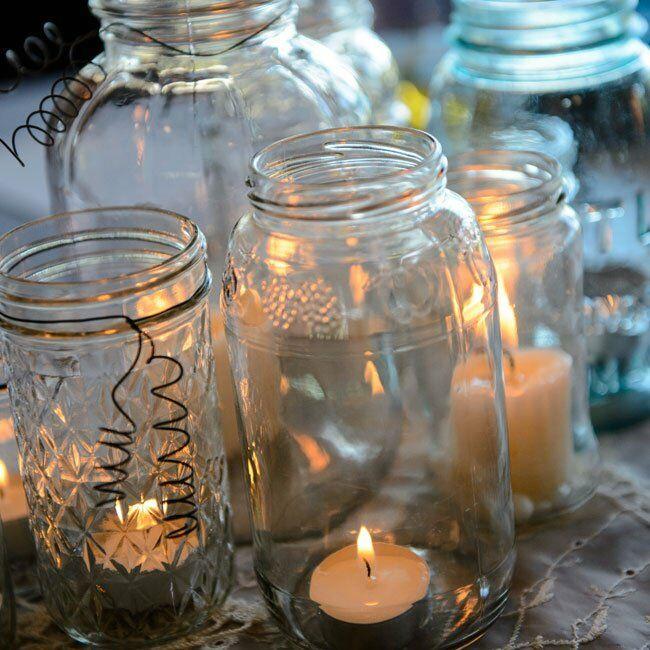 Mason Jar Candle Holders