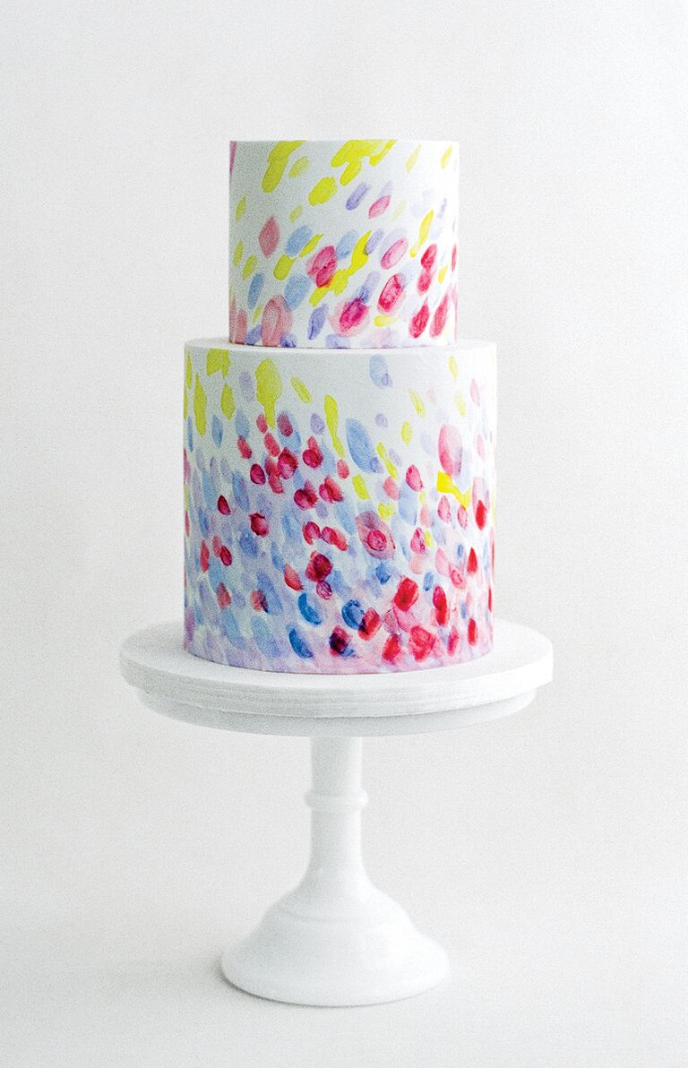 Brushstroke style cake by The Whole Cake