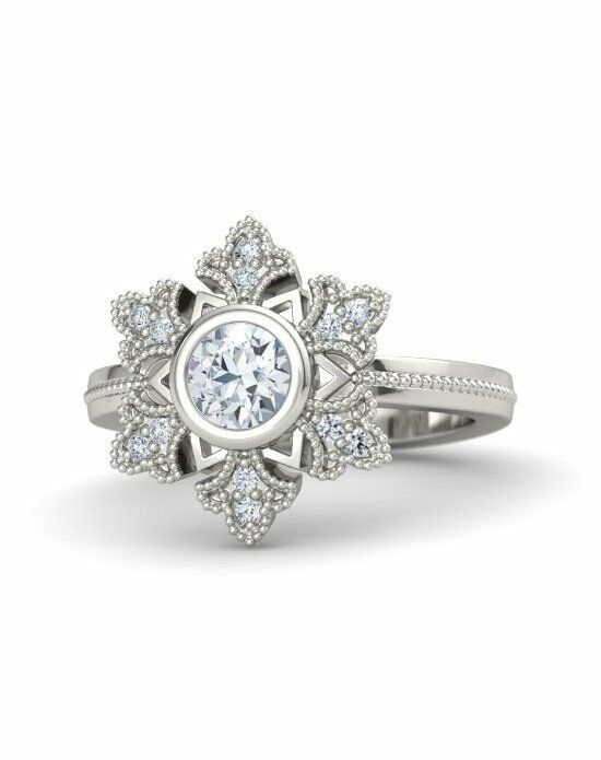Gemvara - Customized Engagement Rings Snowflake Ring Engagement Ring photo