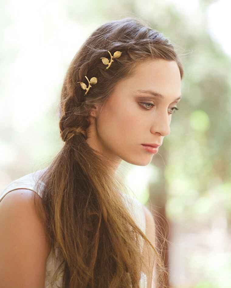 gold hair clips