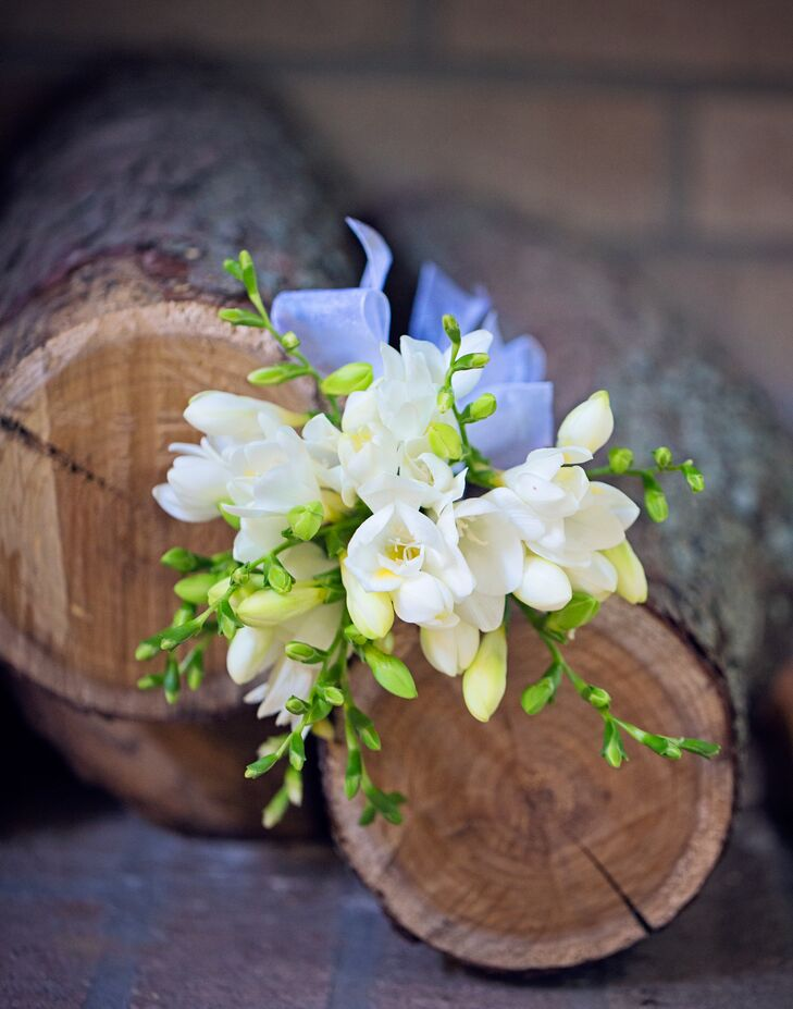 White and Green Freesia Bouquet