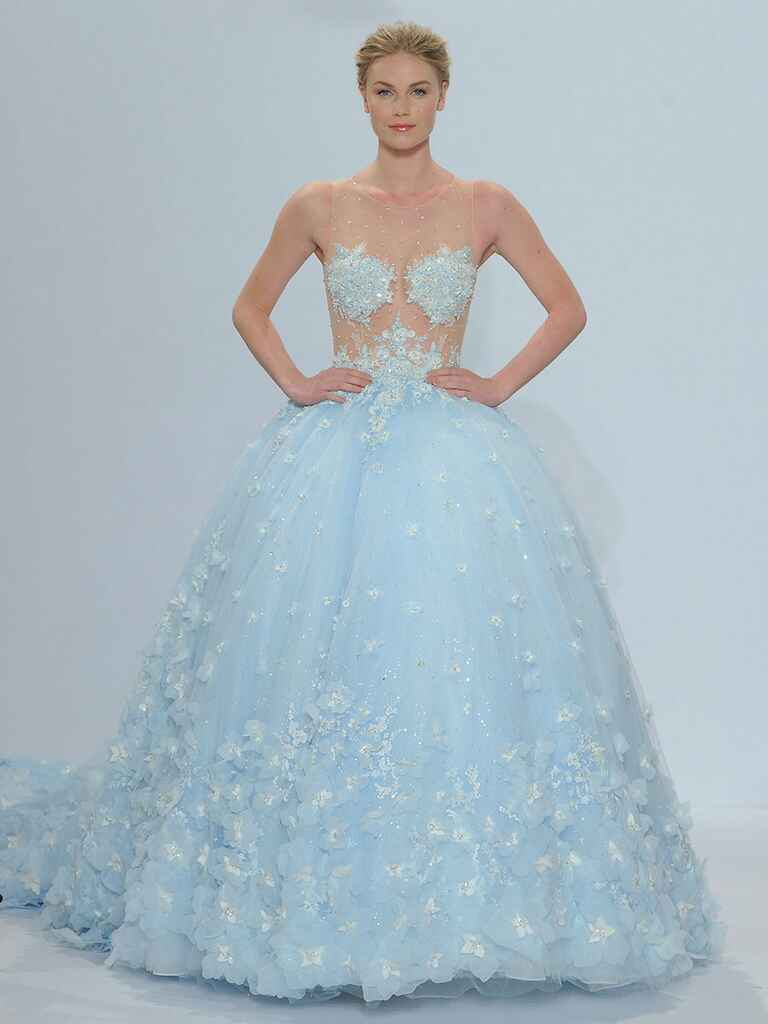 Randy fenoli spring 2018 collection bridal fashion week for Rainbow wedding dress say yes to the dress