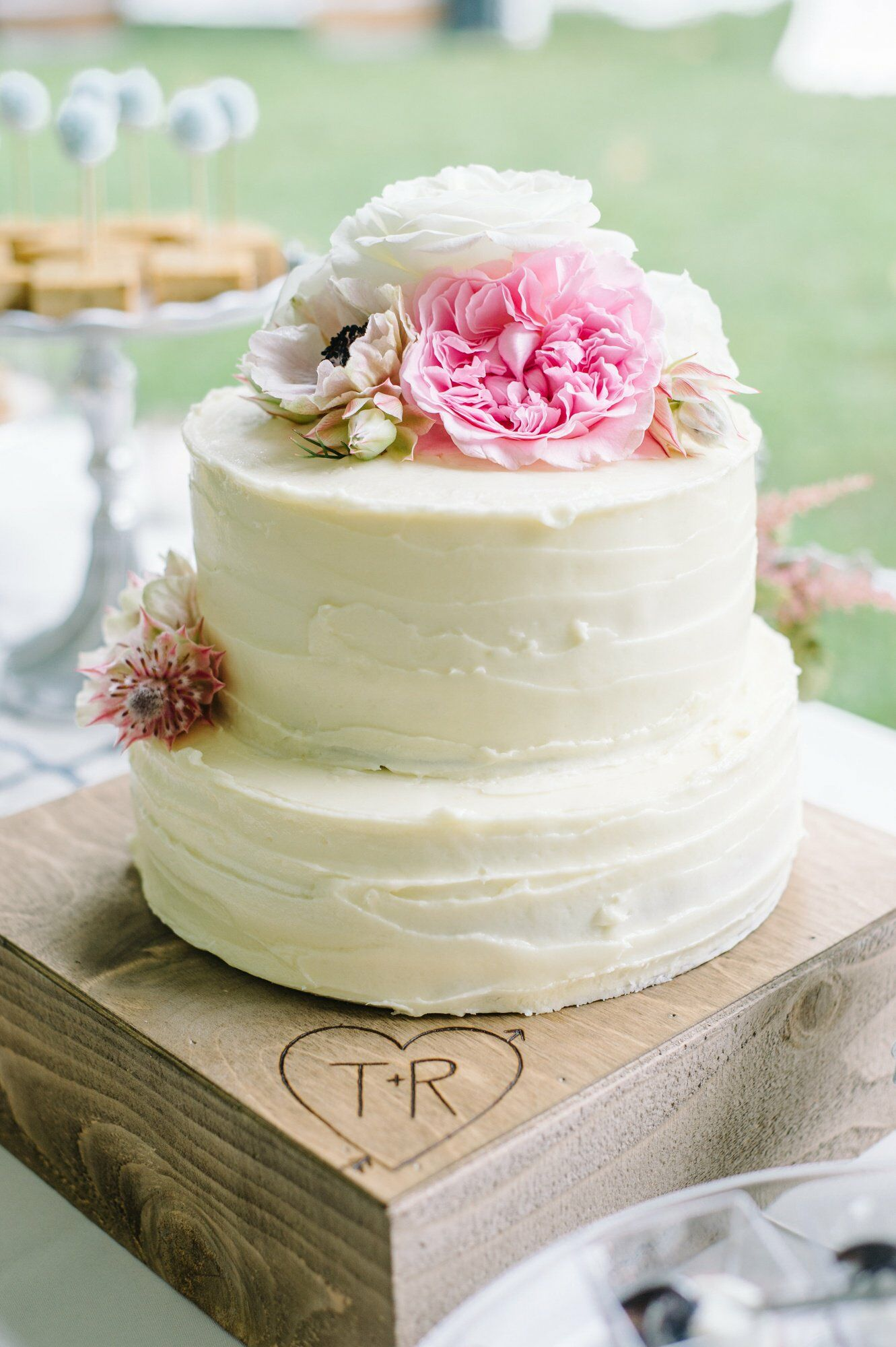 Two Tier Buttercream Wedding Cake