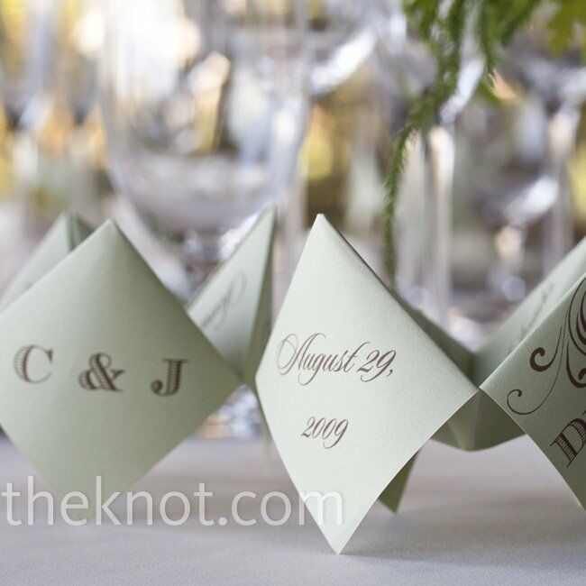 Origami Menu Card