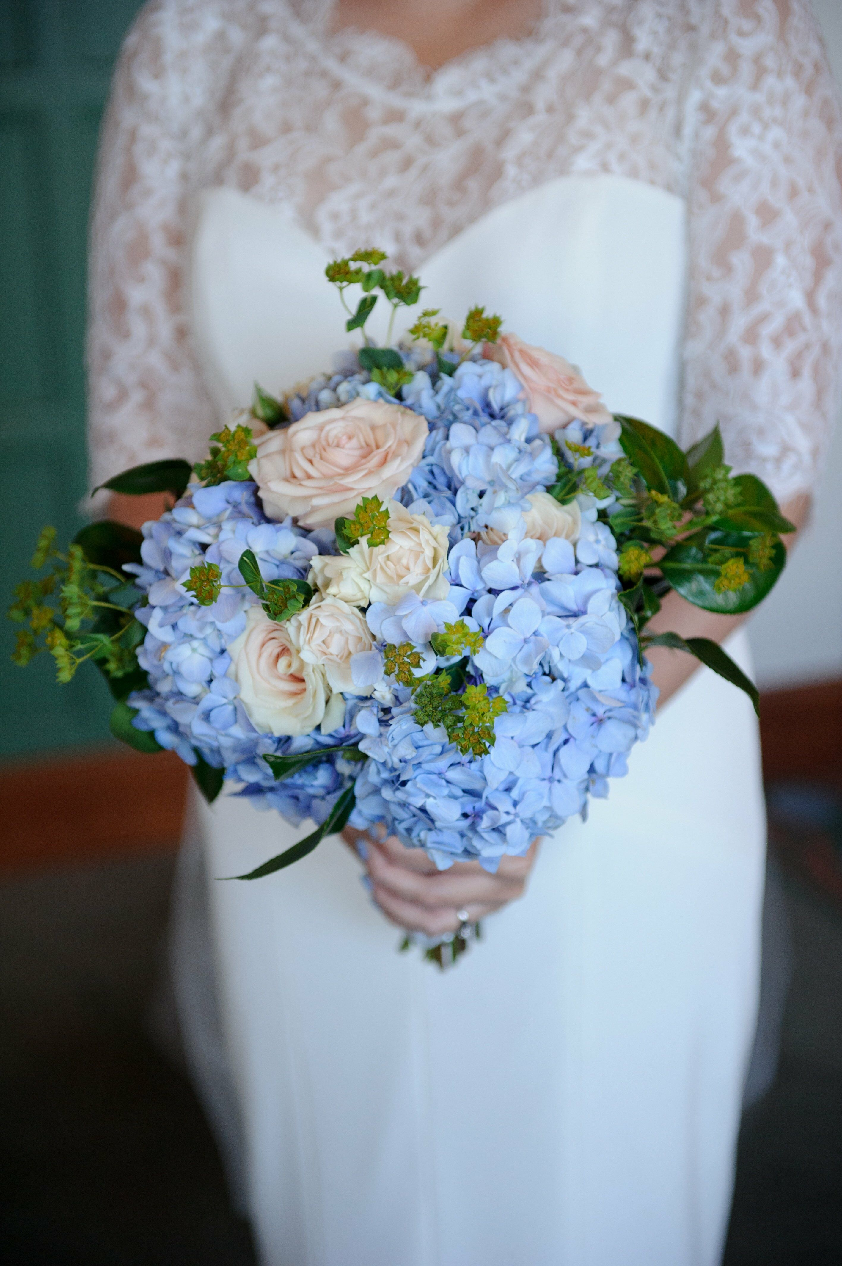 White Hydrangea And Gypsophila Bouquet By Add Style Uk Flower