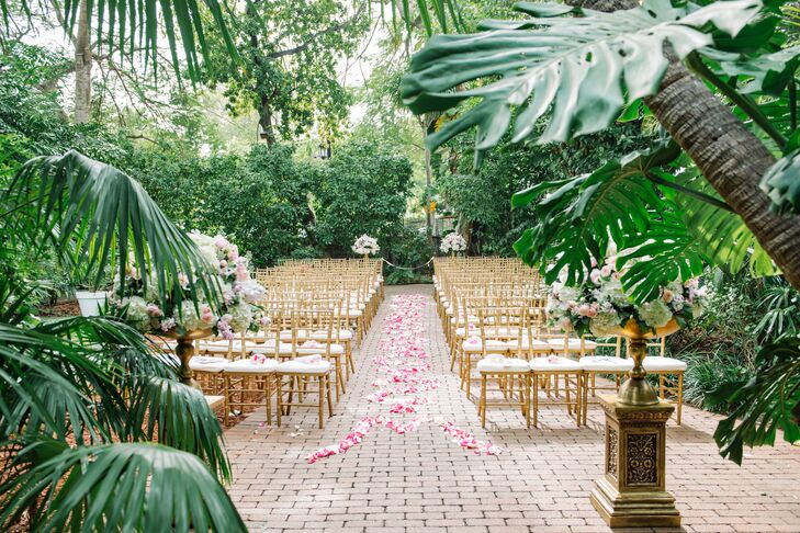 a sophisticated  whimsical wedding at the hemingway home